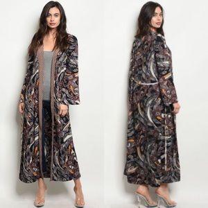 Sweaters - NWT Feather Print Kimono Small-Large